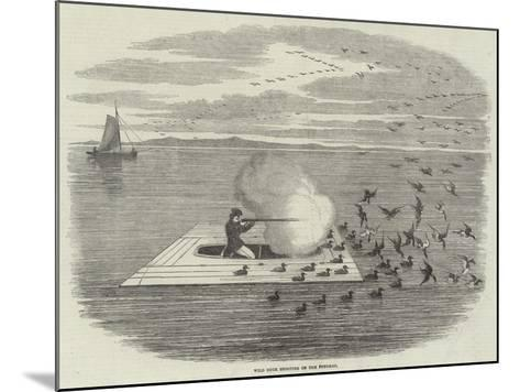Wild Duck Shooting on the Potomac--Mounted Giclee Print
