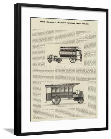 The Coming Motor Buses and Cabs--Framed Art Print