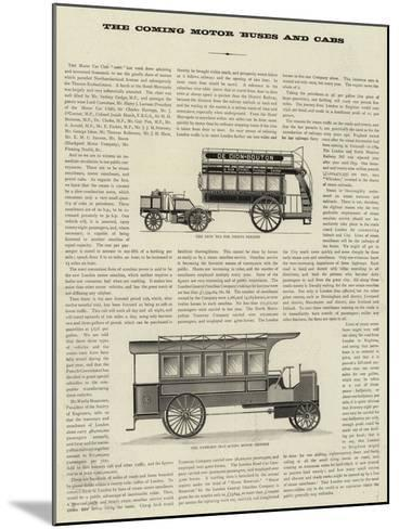 The Coming Motor Buses and Cabs--Mounted Giclee Print