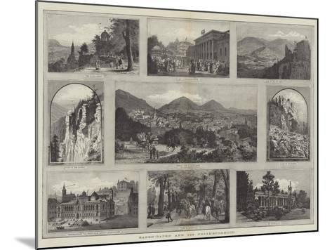 Baden-Baden and its Neighbourhood--Mounted Giclee Print