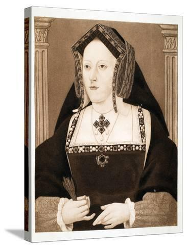 Catherine of Aragon, Pub. 1902--Stretched Canvas Print