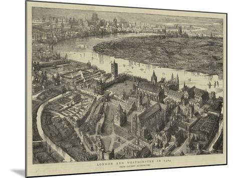 London and Westminster in 1584--Mounted Giclee Print