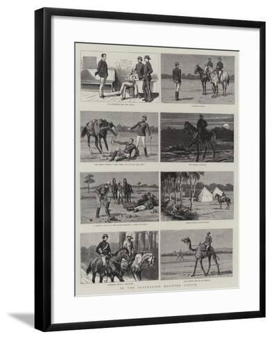 In the Australian Mounted Police--Framed Art Print