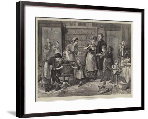 A Christmas Present to the Vicar--Framed Art Print