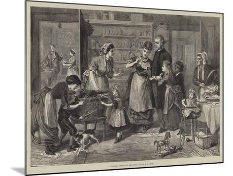 A Christmas Present to the Vicar--Mounted Giclee Print