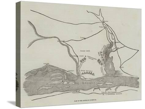 Plan of the Battle of Oltenitza--Stretched Canvas Print