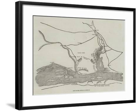 Plan of the Battle of Oltenitza--Framed Art Print