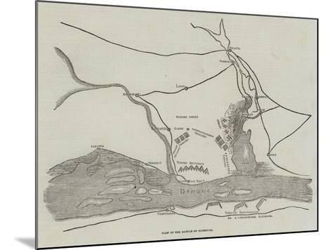 Plan of the Battle of Oltenitza--Mounted Giclee Print