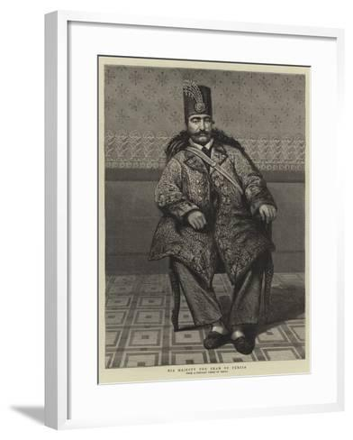 His Majesty the Shah of Persia--Framed Art Print