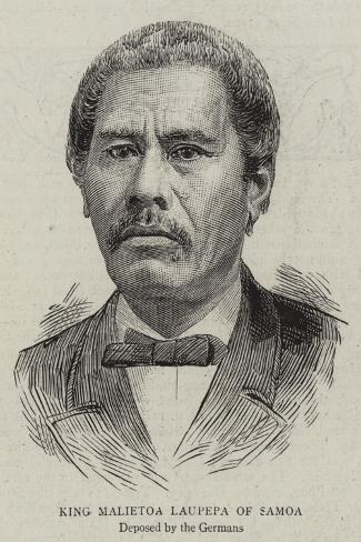 King Malietoa Laupepa of Samoa--Stretched Canvas Print