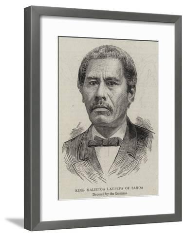 King Malietoa Laupepa of Samoa--Framed Art Print
