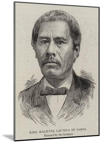 King Malietoa Laupepa of Samoa--Mounted Giclee Print