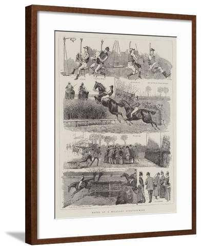 Notes at a Military Steeplechase--Framed Art Print