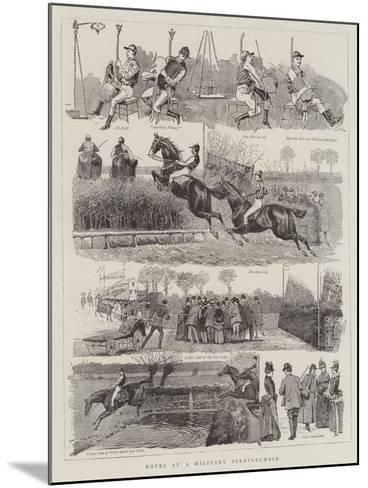 Notes at a Military Steeplechase--Mounted Giclee Print