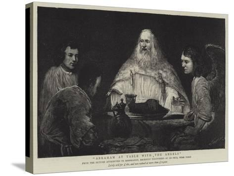 Abraham at Table with the Angels--Stretched Canvas Print