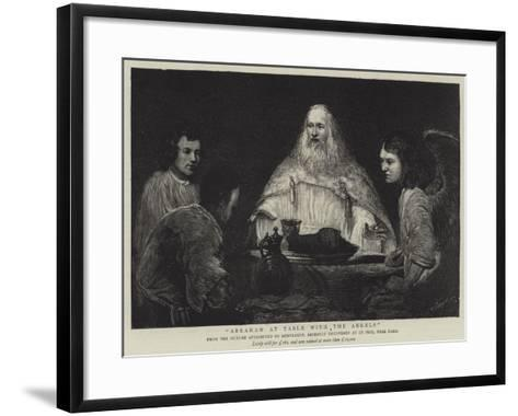 Abraham at Table with the Angels--Framed Art Print