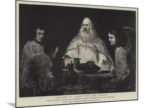 Abraham at Table with the Angels--Mounted Giclee Print