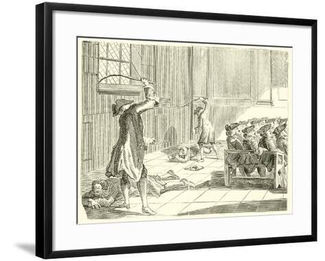 Discipline Practised by the Jews--Framed Art Print