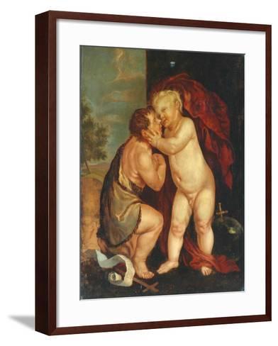 Baby Jesus and John the Baptist--Framed Art Print
