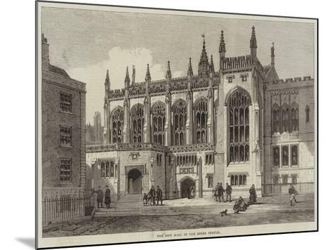 The New Hall of the Inner Temple--Mounted Giclee Print