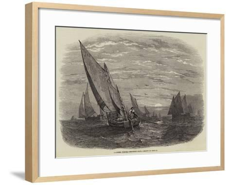 Mackerel Fishing, Brighton Boats--Framed Art Print
