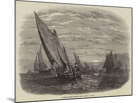 Mackerel Fishing, Brighton Boats--Mounted Giclee Print