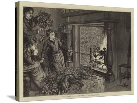 Burning the Christmas Decorations--Stretched Canvas Print