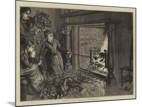 Burning the Christmas Decorations--Mounted Giclee Print