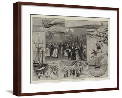 Visit of HMS Nelson to Melbourne--Framed Art Print