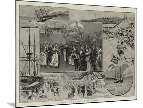 Visit of HMS Nelson to Melbourne--Mounted Giclee Print