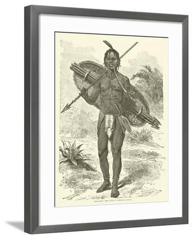Mirambo, the Great African Chief--Framed Art Print