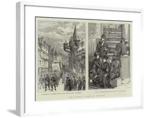 The Railway Strikes in Scotland--Framed Art Print