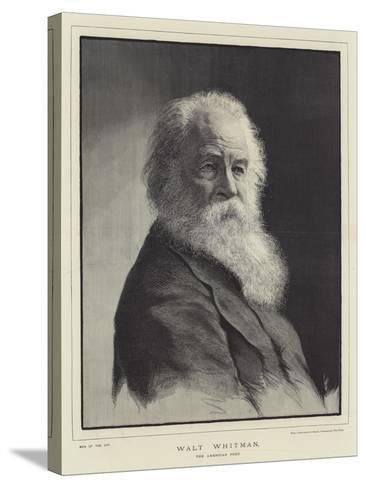 Walt Whitman, the American Poet--Stretched Canvas Print