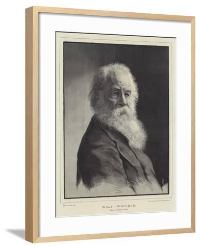 Walt Whitman, the American Poet--Framed Art Print