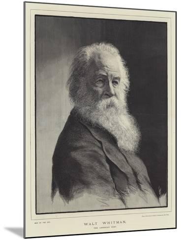 Walt Whitman, the American Poet--Mounted Giclee Print