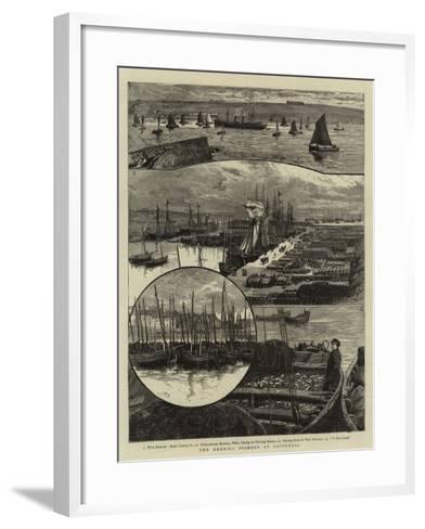The Herring Fishery at Caithness--Framed Art Print