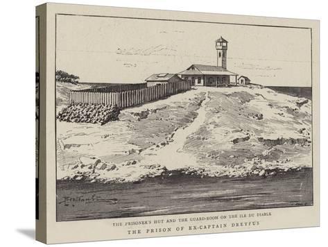 The Prison of Ex-Captain Dreyfus--Stretched Canvas Print
