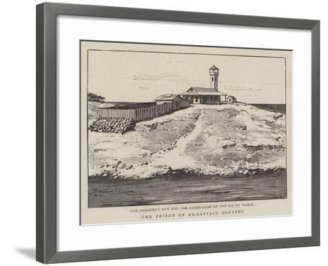 The Prison of Ex-Captain Dreyfus--Framed Art Print