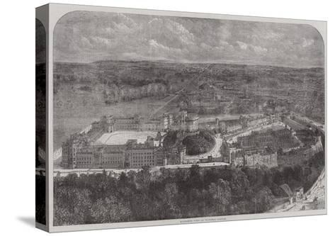 Birdseye View of Windsor Castle--Stretched Canvas Print