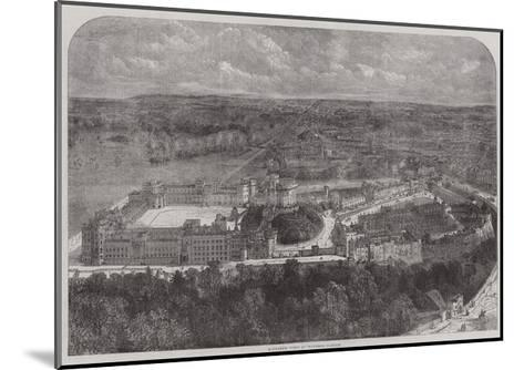 Birdseye View of Windsor Castle--Mounted Giclee Print