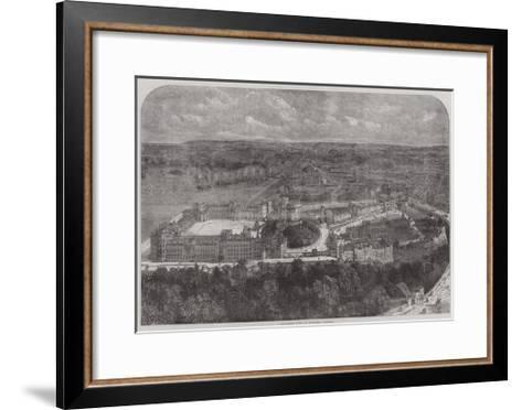 Birdseye View of Windsor Castle--Framed Art Print