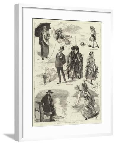 Sketches at Ventnor, Isle of Wight--Framed Art Print