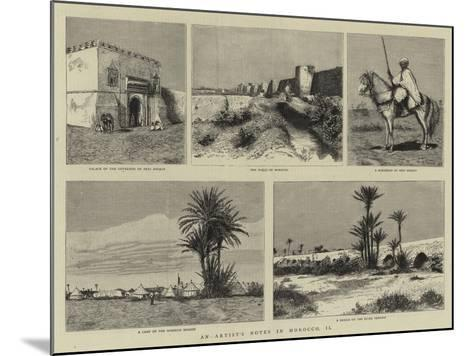 An Artist's Notes in Morocco, II--Mounted Giclee Print
