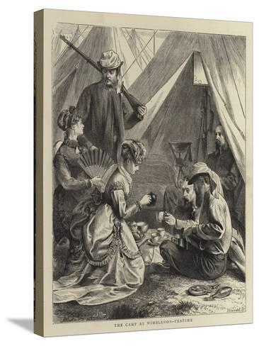The Camp at Wimbledon, Tea-Time--Stretched Canvas Print