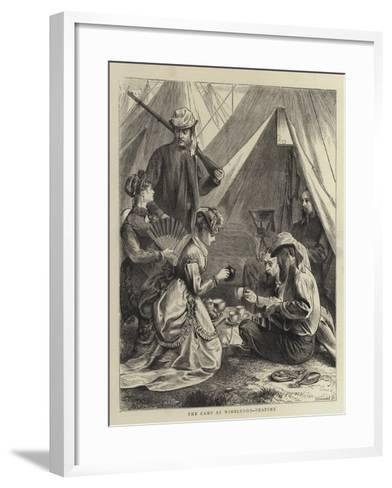 The Camp at Wimbledon, Tea-Time--Framed Art Print
