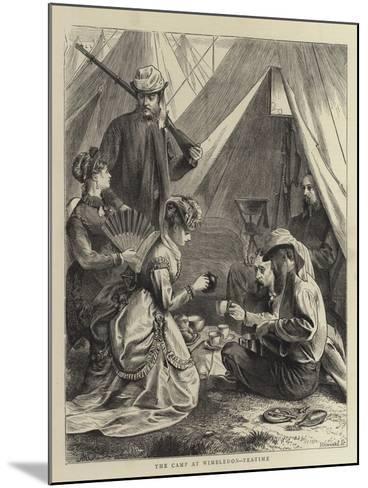 The Camp at Wimbledon, Tea-Time--Mounted Giclee Print