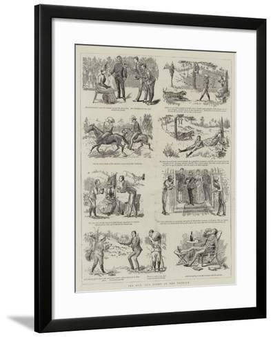 The Old, Old Story in the Tropics--Framed Art Print