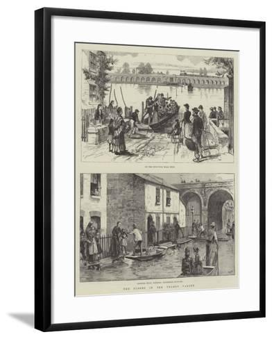 The Floods in the Thames Valley--Framed Art Print