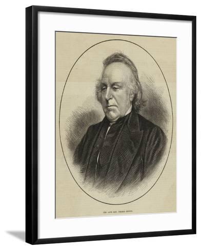 The Late Reverend Thomas Binney--Framed Art Print