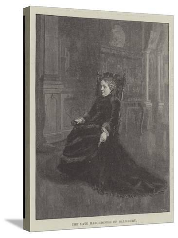 The Late Marchioness of Salisbury--Stretched Canvas Print